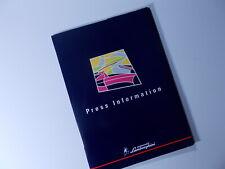 Lamborghini Diablo SV Launch Press Kit Media Info Pack 1998 Detroit NAIAS