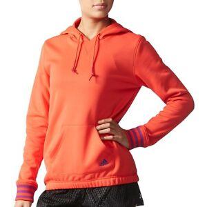 NWT Adidas Women's Fleece Hoody Al6435 Red/Orange Purple $55
