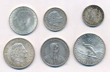 Silbermünzen Lot Österreich,Niederlande,Schweiz u.a. 5 Franken 1933,1 Krone 1914