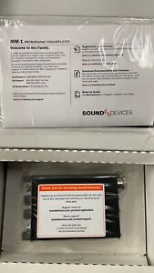 Sound Devices MM-1- Portable Microphone Preamplifier and Headphone Monitor