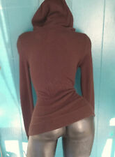 J.Crew Zippered Hoodie Cocoa Brown Sweater Cashmere Blend Kangaroo Size XS - S