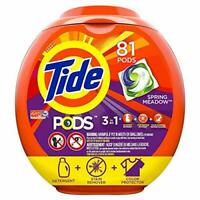 Tide PODS Spring Meadow HE Turbo Laundry Detergent Pacs 81-load Tub.