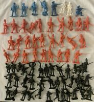 Vintage Plastic 54mm Miniature Soldiers - Revolutionary War British Hessian US