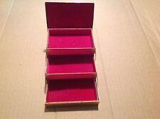 Vintage Accordion Brass Tone Jewelry Keepsake Box