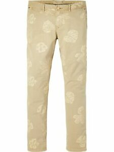 Scotch & Soda Mens New Trousers Warren - Printed Chinos Regular Straight Fit