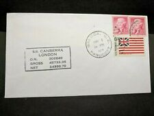 Ship SS CANBERRA Naval Cover 1971 PAQUEBOT Cachet BALBOA, CANAL ZONE