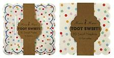 Meri Meri Small Spotty Toot Sweet Plates and Napkins (12 plates and 20 napkins)