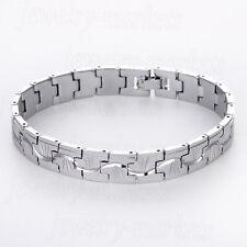 Charm Men Punk Silver Stainless Steel Chian Link Bracelet Wristband Cuff Bangle
