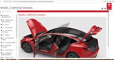 New Tesla Model 3 Factory Workshop Repair Service Manual + Wiring diagrams