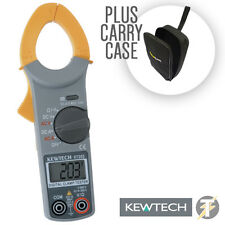 Kewtech KT203 digital ac dc clamp meter (courant/tension/résistance) LDMC 25 case