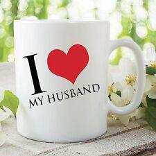 Love My Husband Mug Heart Best Friend Valentines Day Gift Wedding Cup WSDMUG315