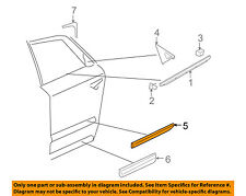 AUDI OEM 04-10 A8 Quattro REAR DOOR-Body Side Molding Left 4E4853963DGRU