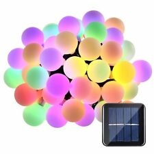 27ft 50 LED RGB Solar Power String Lights Outdoor For Party Garden Fairy Lamp