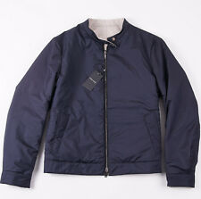 NWT $3495 ARMANI BLACK LABEL Reversible Water-Repellent Tech Cashmere Jacket L