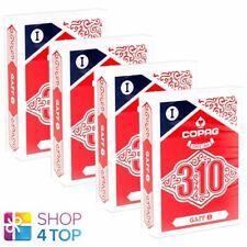 4 Decks copag 310 Gaff Poker Spielkarten Papier Standard Index Blau Rot Neu