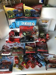 Disney Pixar Cars Diecast Lot Of 35 New And Used Cars