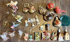 Lot (31) Miniature Custom Bird Collection Detailed Birdhouses Porcelain Thimbles