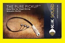 BRAND NEW - K&K Pure Mini Acoustic Guitar Pickup - NEVER USED