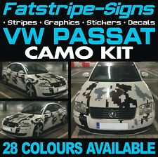 VW PASSAT CAMO GRAPHICS STICKERS STRIPES DECALS VOLKSWAGEN V DUB GTI R36 TDi CC