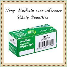 Piles bouton 317 Sony muRata SR516SW 1.55V sans Mercure Réf: 4931710