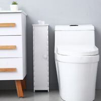 Bathroom Bath Toilet Paper Towel Storage Narrow Cabinet Organizer Waterproof PVC