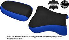 Desgn 2 Negro Azul Personalizado de vinilo cabe Kawasaki ZX9R 98-02 Delantero Trasero Seat Covers