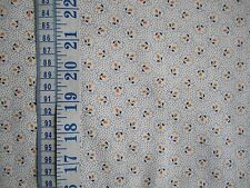 Penny Rose Cheddar & Indigo fabric 100% cotton Cream with Small Flowers per FQ