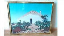 Cuadro fotografia Bombo Tomelloso ya enmarcado, decoracion rustica y campestre.