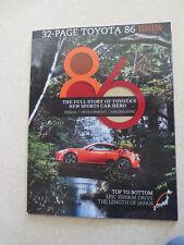 2012 Toyota 86 advertising booklet - Australia
