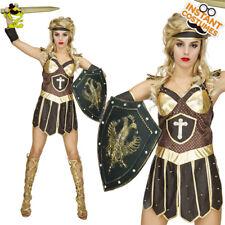Adult 's Warrior Princess Costume Greek Female Roman Gladiator Fancy Dress
