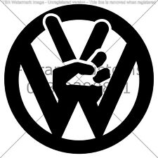 "VW JDM LOGO car sticker universal for all cars 6"" vinyl  High quality JDM"