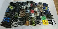 Huge Lot of 50 Kids Boys Shoes Sneakers Snow Boots Sandals Cleats Size 1Y-13Y