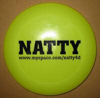 NATTY Man Like I / July promo dayglo green frisbee MINT condition
