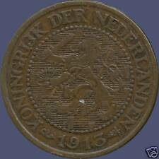 """1913 Netherlands 2 1/2 Cent Coin """"31mm Diameter"""""""