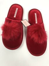 New Victorias Secret Pom-pom Slippers Bedroom Dorm Shoes Slides ❤️choose Color L