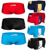 Mens Swims Boxer Trunks Swimming Bathing Shorts Swimwear Beach Wear Swimsuit