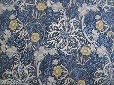 "WILLIAM MORRIS CURTAIN FABRIC ""Seaweed"" 3.8 METRES INK & WOAD DM3P224470"
