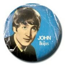 BEATLES john - blue - BUTTON BADGE official merchandise - lennon & mccartney