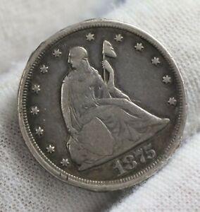 1875 CC Twenty Cent Piece 20c Carson City RARE Silver Coin