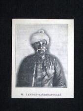 Signor Tandon Sandirapoullé, morto a Pondichery il 3 agosto 1902 Stampa del 1902