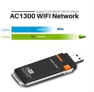 WavlinkWN688A2 Dual Band AC1300 WirelessNetwork  USB 3.0 Adapter - 2.4GHz/5Ghz