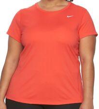 Nike Womens Plus Size 1X Miler Short Sleeve Dri-Fit Training T-Shirt CRIMSON Red