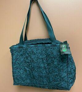 Lesportsac Weekender Black Bag Duffle Travel Bag New NWT Charity Vine DS71
