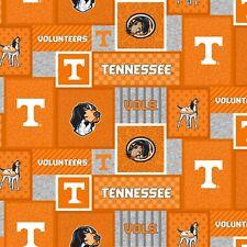 University of Tennessee Volunteers Patchwork Fleece Fabric-Fleece Blanket Fabric