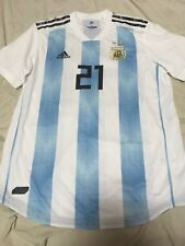 100% Official Authentic Player Issue Argentina Home 2018 World Cup Dybala Jersey