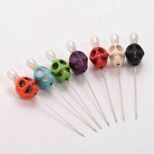 Gothic Skull Head Pattern Pins 7pcs Needles