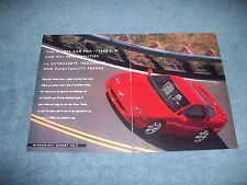 "1995 Mitsubishi 3000GT VR-4 Vintage Ad ""The Sports Car for Types E, H, & PF"""