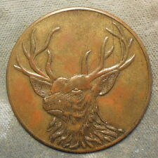 Coal: Buck OK 401A-100 McAlester Coal Mining Co R-7 (Bull Elk) brass 38mm C-100