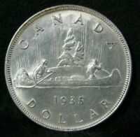 1935 Canada Silver $1 Dollar Crown High Grade * Canadian Coin #4229