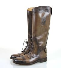"""New Authentic Gucci Mens """"Redoute"""" Perforated Leather Tall Boot, 5/US 6, 298770"""